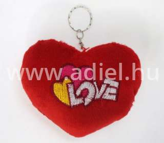 Plüss párna szív Love 11x8 cm.